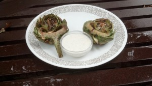 Grilled Artichokes with Aioli
