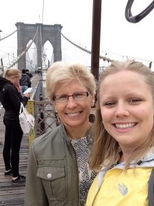 Mother Daughter at the Brooklyn Bridge